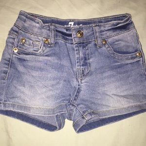 7 for all man kind girls shorts size 4T EUC